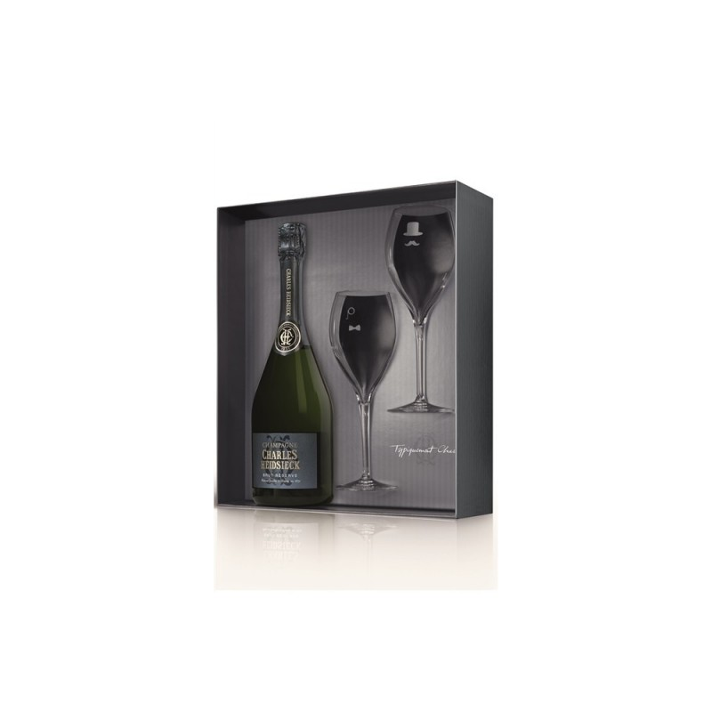 Charles Heidsieck   Champagne Brut Réserve dárkový set se skleničkami
