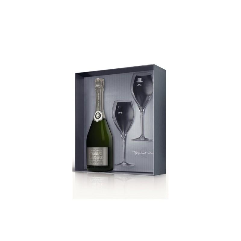 Charles Heidsieck | Champagne Blanc de Blancs dárkový set se skleničkami