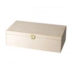 Dřevěná krabice s panty na...