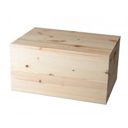 Dřevěná krabice s víkem na...