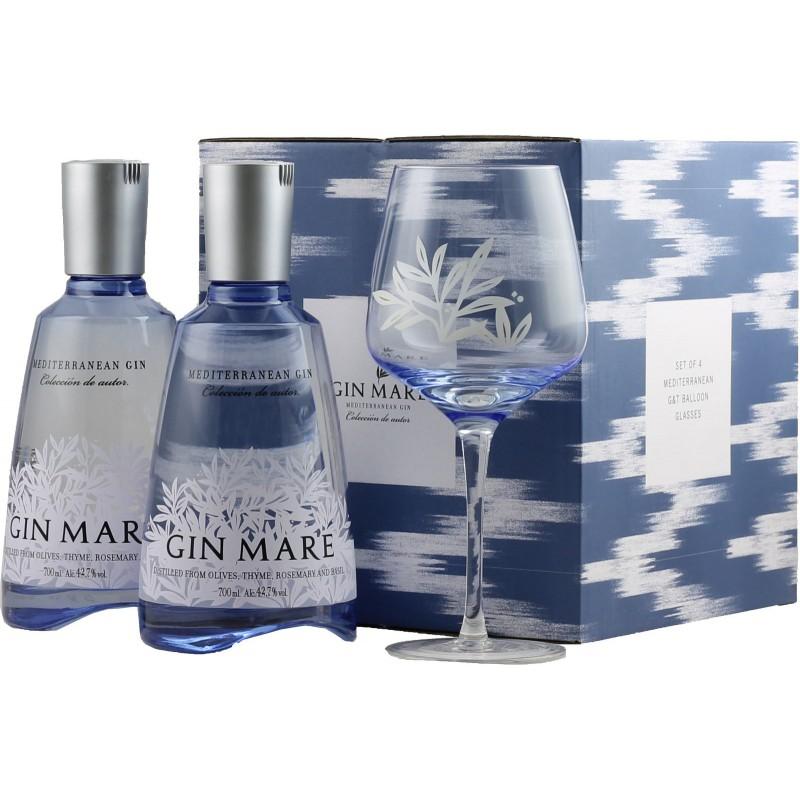 Gin Mare   Balení 2x Gin Mare + 4x sklenička