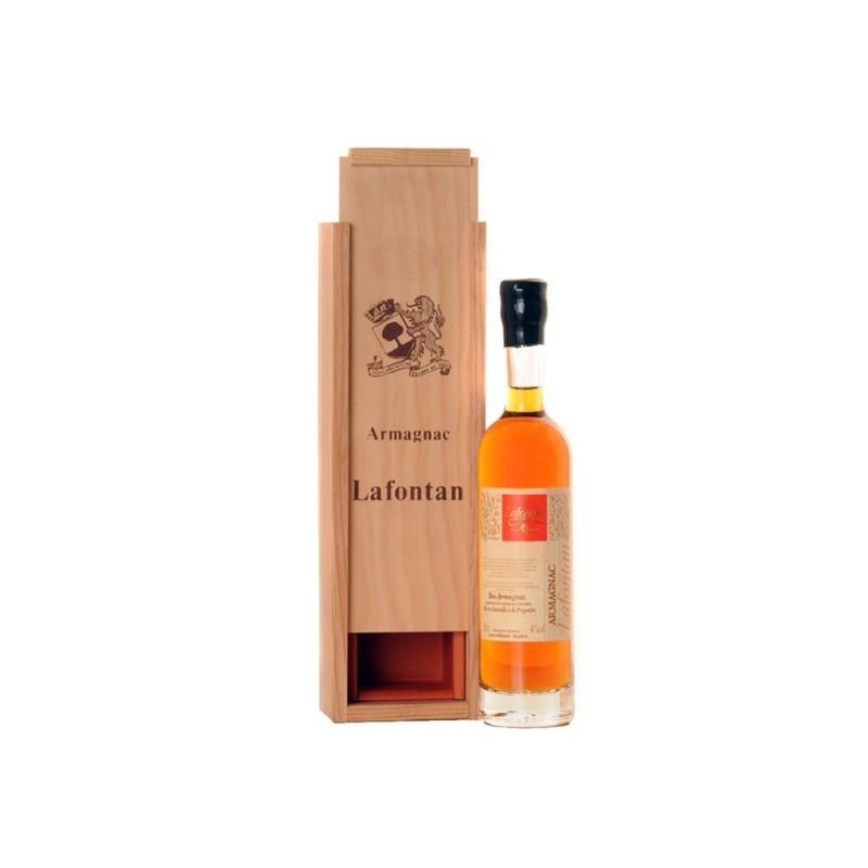 Lafontan   Armagnac 1967 v dřevěné krabičce 0,2l